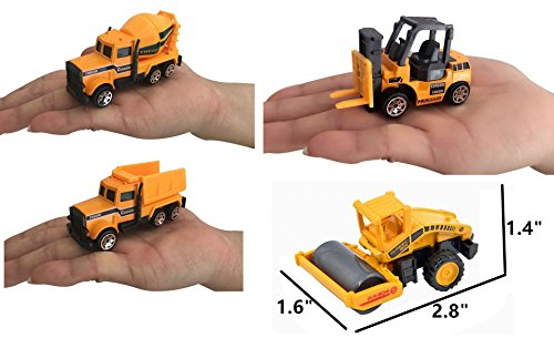 XADP 6 Pcs Play Vehicles Construction Vehicle Truck Cars Toys Set,Friction Powered Push Engineering Vehicles Assorted Construction for Boys and Girls by XADP (Image #2)