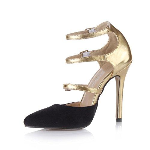 Pumps toe Velvet 4U Heels 12CM Best Premium High PU Women's Sole Summer Sandals Pointed Elastic Rubber Zx70zTwq