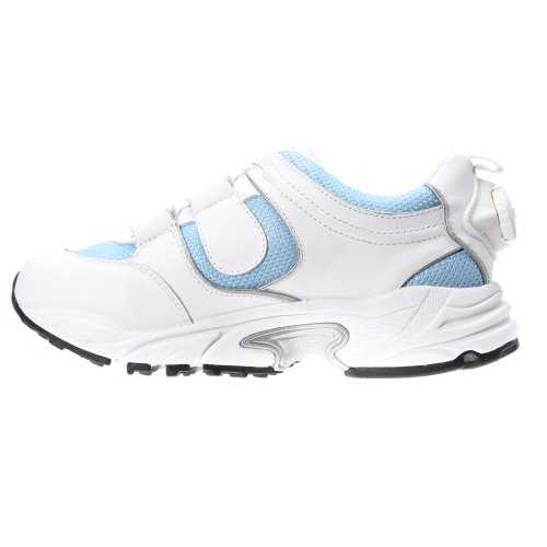 Drew Shoe Mujeres Blaze Athletic Walker Blanco / Azul