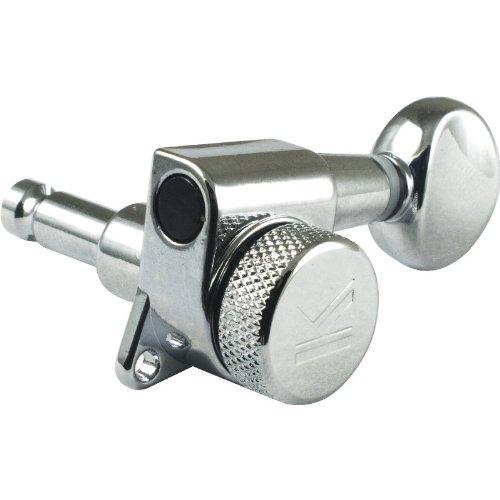 Machine Head - Kluson, 6/line, Oval Metal Button, Chrome