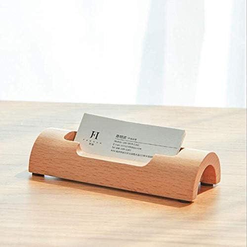 LYB Kreative Aufbewahrungsbox Buchenholz Visitenkartenhalter Massivholz Holz Visitenkartenhalter Notizhalter Desktop-Visitenkartenhalter