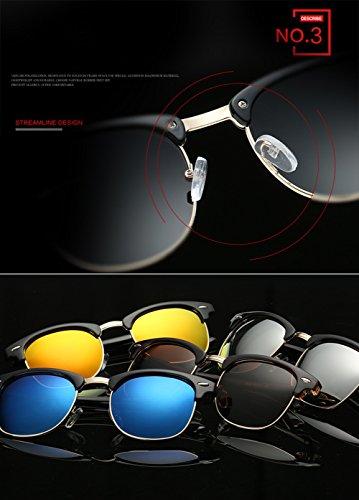 ec3d3dcab574 Joopin Semi Rimless Polarized Sunglasses Women Men Retro Brand Sun Glasses  (Brilliat Black Frame