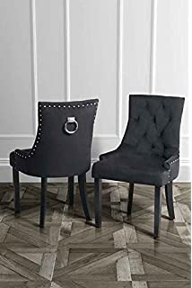 MY Furniture High Quality Upholstered Scoop Back Dining Chair With Ring