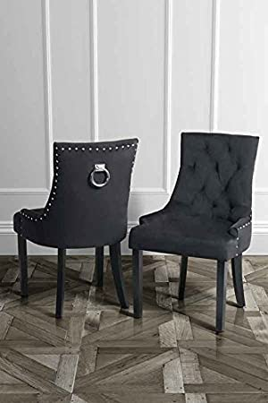 Grey Velvet Dining Chairs Uk Modern glamour with a classic twist