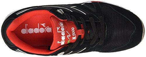 Diadora N9000 Nyl Ii - Zapatillas Unisex adulto Negro / Rojo