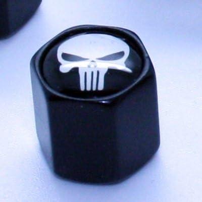 /Skull Black/ 4/Valve Caps with Keyring/ /Valve Pendant Key Ring Keychain