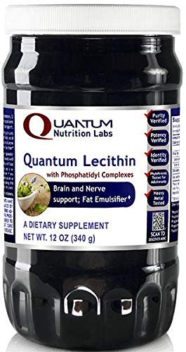 Quantum Lecithin, 24oz 2 Bottles- with Phosphatidtidyl Complexes - Premier Lecithin Quantum Brain and Nerve Support; Fat Emulsifier by Quantum Nutrition Labs