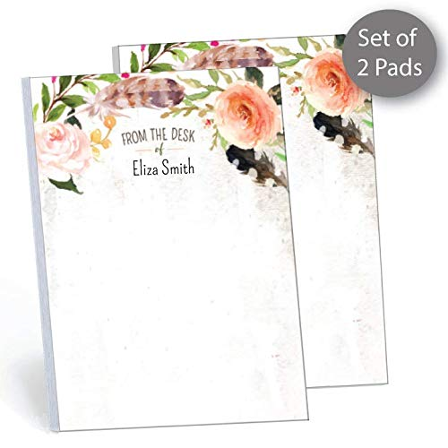 Personalized Teacher Notepads - Garden Oasis Set of 2 Personalized