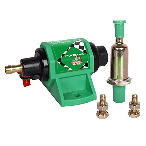 CarBole Micro Electric Diesel Fuel Pump Universal 5/16 inch Inlet and Outlet 12V 1-2A 35GPH 4-7 P.S.I. Operating Fuel Pressure 2-wire Design