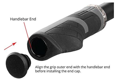 Comfort Ergonomic Shape Bike Handlebar Grips Ergo Rubber Cycling Bicycle Grips A