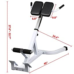 Yaheetech Steel 45 Degree Hyperextension Roman Chair Capacity 440 Lb
