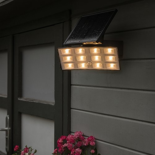QAZQA Moderno Proyector LED FLIP solar con sensor PIR IP44 ...