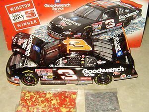 Dale Earnhardt Sr #3 Goodwrench Service Plus Monte Carlo Talladega No Bull Raced Win Version With Donut On Door 76th and Final Win of Earnhardt's Career 1/24 Scale Diecast Hood Opens Trunk Opens HOTO With Victory Lane Celebration Confetti/Play Money Action Racing Collectables ARC Limited Edition