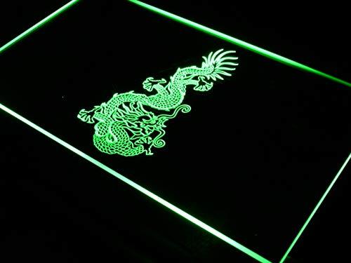 ADVPRO Chinese Dragon Tattoo Art Bar LED Neon Sign Green 16