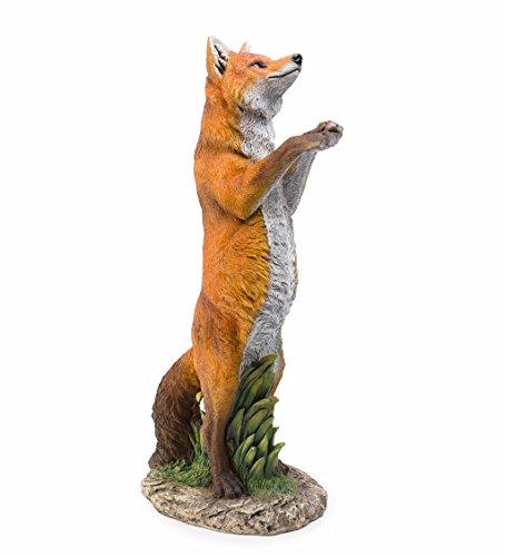 Standing Fox Statue - 15 L x 9.5 W x 28.25 H (Fox Yard Statue)
