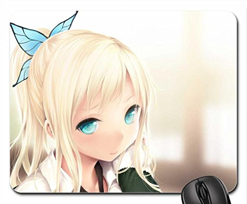 kashiwazaki sena Mouse Pad, Mousepad (10.2 x 8.3 x 0.12 inches) (Anime With Blonde Hair And Blue Eyes)