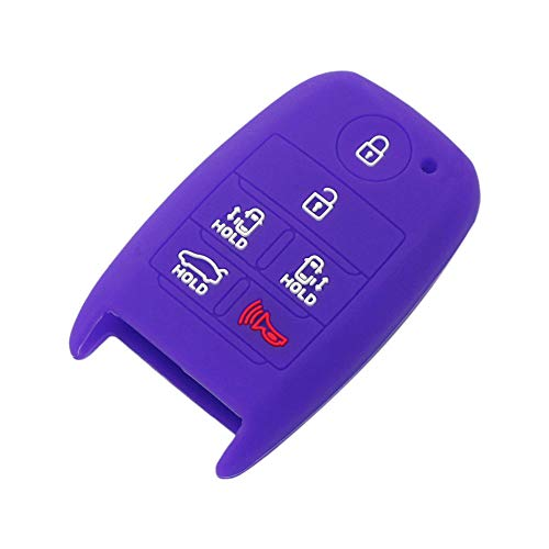 SEGADEN Silicone Cover Protector Case Skin Jacket fit for KIA Sedona 6 Button Smart Remote Key Fob CV4151 Deep Purple