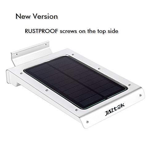 JAZTEK Solar Energy Light Motion Sensor Light Outdoor 46 LEDs for Patio Garden Courtyard Path etc (Silver)