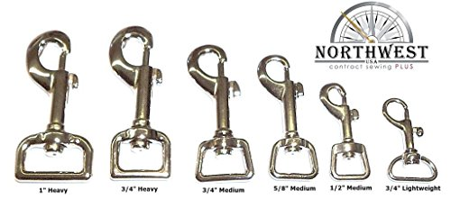 "Nickel plated, Heavy, Swivel Snap hook for 3/4"" webbing or straps. (20 pcs) ()"
