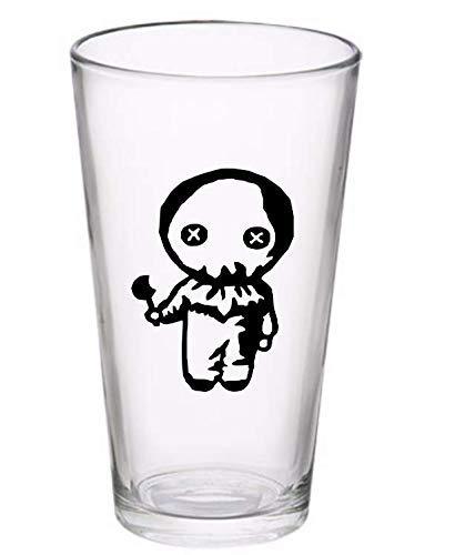 Sam Trick or Treat Halloween Horror Pint Wine Glass Tumbler Alcohol Drink Cup Barware Halloween Scary (Wine Glass) (Pint) -