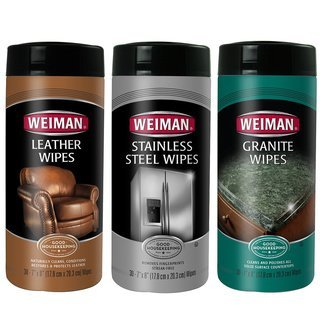 WEIMAN Stainless Steel, Leather & Granite Wipes Care Set,...