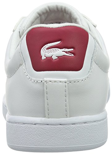 wht Evo red 3 Blanc Femme S216 286 Carnaby Basses Lacoste Baskets Rqw7pn8A