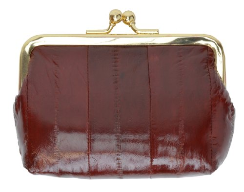Genuine Eelskin Soft Leather Change Purse Organizer by Marshal