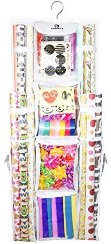 - Freegrace Double Sided Hanging Gift Wrap Organizer | Large 16