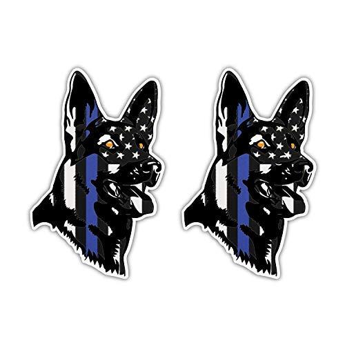 Stickernaut K9 Canine Police Sticker for Water Bottles [2 Pack Premium Matte Waterproof Vinyl]