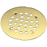 Moen 101663PMOENF Kingsley 4-1/4-Inch Snap-In Shower Drain Cover, Polished Brass by Moen