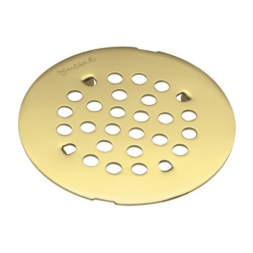 Moen 101663PMOENF Kingsley 4-1/4-Inch Snap-In Shower Drain Cover, Polished Brass by (Polished Brass Appliance)