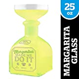 "Bigmouth Inc. Margarita Bottle Glass - Hilarious Glass Holds up to 32 Oz - Glass Shaped Like A Tequila Bottle, Reads, ""Margaritas Made Me Do It"", Make a Great Gift for Margarita Lovers"