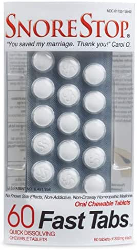 SnoreStop FastTabs 60 Count Anti-Snore Remedy