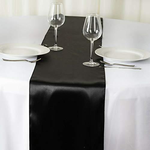 Mikash 12 x 108 Satin Table Runner Wedding Party Dinner Table Supply Decorations Sale | Model WDDNGDCRTN - 1821 | 20 pcs ()