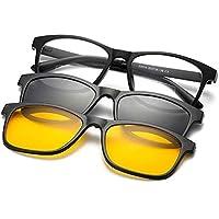 Armação de Óculos + 2 Lentes Polarizadas ClipOn TR90