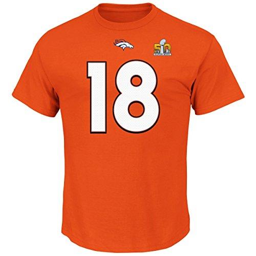 Peyton Manning Denver Broncos Majestic NFL Super Bowl 50 Player T-shirt ()