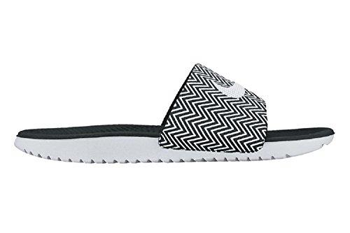 Nike Womens Kawa Slide Print Svart / Vit Sport Slide Sandal 12