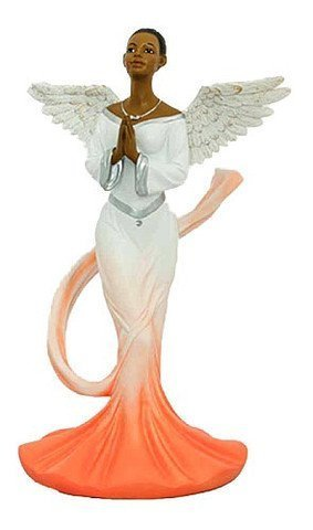 - Sash Angel in Orange African American Angel Statue