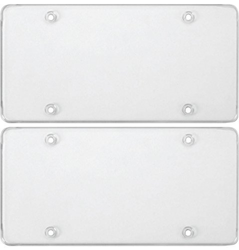 - Cruiser Accessories 76100 Tuf-Shield Clear Flat License Plate Cover (2 Covers)