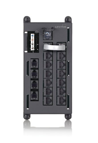 Leviton 476TL-T12 Telephone Input Distribution Panel, Black Housing Leviton Phone Module