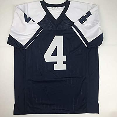 413404b61fa Unsigned Dak Prescott Dallas Thanksgiving Day Custom Stitched Football  Jersey Size XL New No Brands/. Loading Images.