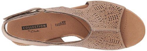 Clarks Rosen Leather Lafley Medium Platform Us 11 Sand Women's vqr6Wv