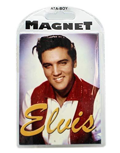 Elvis Presley Background Aura Rectangle Magnet (Elvis Presley Nothing But A Hound Dog)