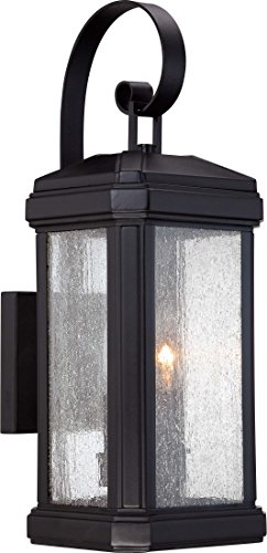 Quoizel TML8407K Trumbull 2-Light Outdoor Lantern, Mystic Black