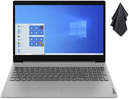 "2021 Newest Lenovo IdeaPad 3 15.6"" FHD Non-Touch Laptop, Intel Dual-Core i3-1005G1 Up to three.4GHz (Beats i5-7200u), 12GB DDR4 RAM, 256GB PCI-e SSD, Webcam, WiFi 5, HDMI, Windows 10 S + Oydisen Cloth"