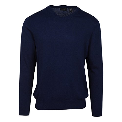 Golf Wool Sweater (Greg Norman Luxury Blend V-Neck Sweater, Nightfall Heather, Large)