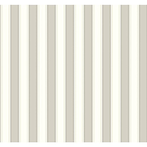 York Wallcoverings Ashford Stripes Silk Stripe Removable Wallpaper, Black/White (Stripe Silk Tonal)