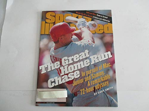 AUGUST 3, 1998 SPORTS ILLUSTRATED FEATURING MARK McGWIRE OF ST. LOUIS CARDINALS *THE GREAT HOME RUN CHASE - IN PURSUIT OF MAC, JUNIOR AND SAMMY. A REMARKABLE 72-HOUR ODYSSEY - BY GARY SMITH* MAGAZINE