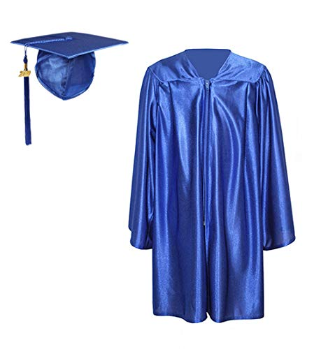 Kindergarten Cap And Gown (Preschool and Kindergarten Graduation Shiny Gown Cap Tassel with 2019 Year)