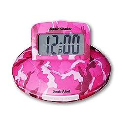 Sonic Alert SBP100C Sonic Boom Alarm Clock in Pink Camo